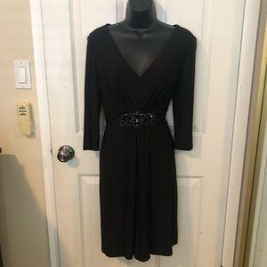 Eliza J classic black dress